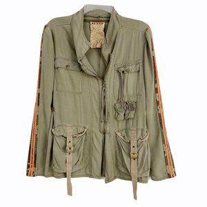 Da-Nang Silk Military Jacket Camo Stripe Sleeves